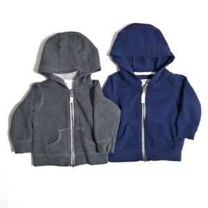 2pc Carters Zip Up Hoodies for Boys Size 9m